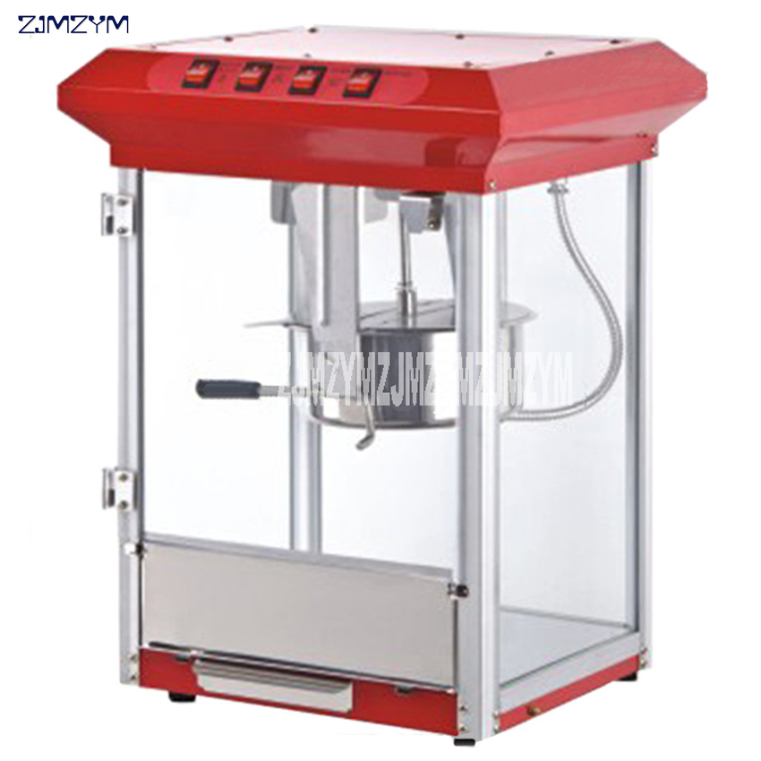 Electric Popcorn Machine Commercial Automatic Hot Oil Popcorn Maker Stainless Steel Non-stick Pot Popcorn Making Machine110/220V american style popcorn machine commercial popcorn machine household appliances automatic stainless steel 310w