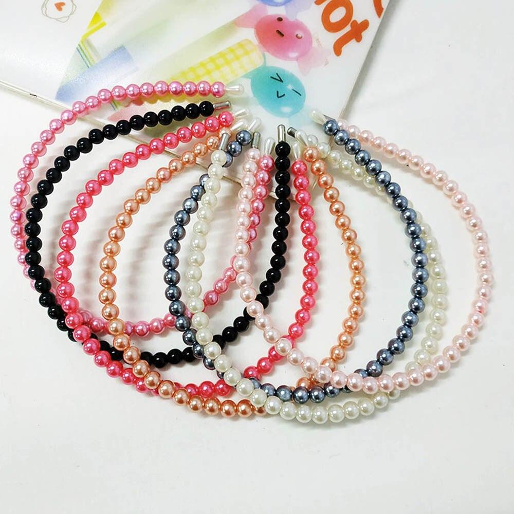 Metal Pearl Headband Korean Hair Band Hair Accessories  Headpiece For Women