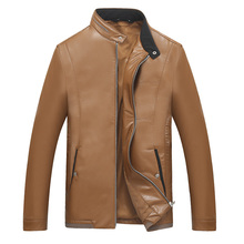 2016The PU leather Jackets Men's Clothes Spring Autumn Coats Men Outwears Brand Clothing Business Men's Jacket 7XL