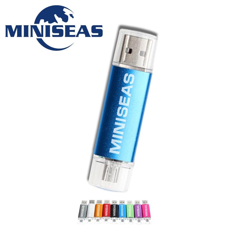 Miniseas Usb דיסק און קי אופנה 9 צבעים OTG טלפון עט כונן 8 GB 4 GB Pendrive 64 GB 32 GB 16 GB זיכרון Usb מקל דיסק און קי