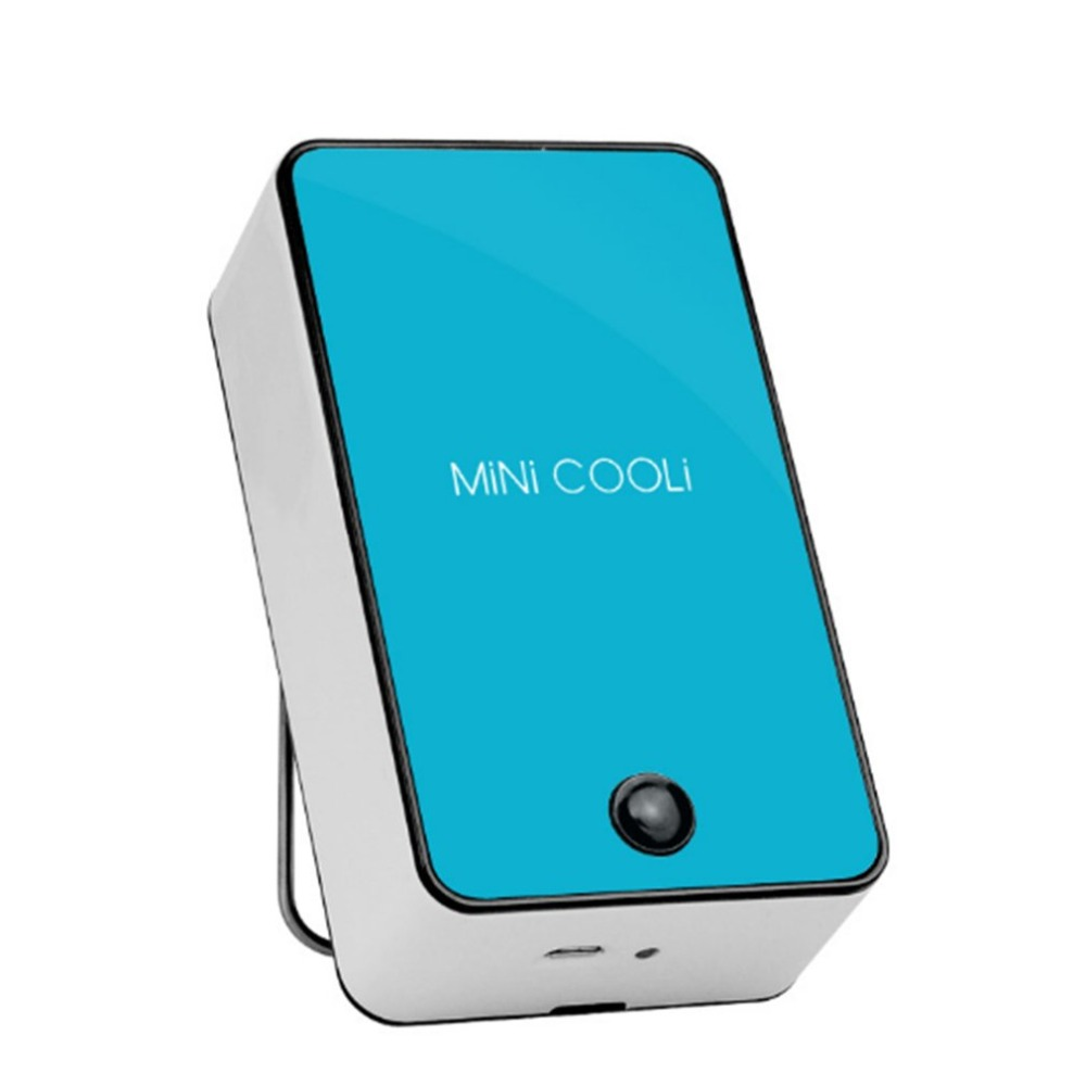 USB Rechargeable Mini Handheld Air Cooler Cooling Fan Handy Air Conditioner Fan with LED Indicator for Home School Office TravelUSB Rechargeable Mini Handheld Air Cooler Cooling Fan Handy Air Conditioner Fan with LED Indicator for Home School Office Travel