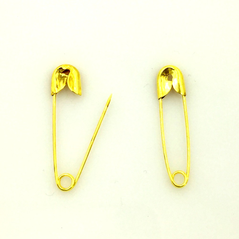 500Pcs DIY Gold Plated Metal Safety Pins Brooches Crafts Scrapbook Sewing Making 22x5.5mm