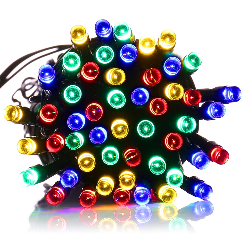Best Quality Solar String Lights : Top Quality Waterproof lederTEK 12m 100 LED Colorful LED Solar Powered Fairy String Lights 8 ...