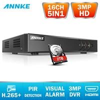 ANNKE 16CH 3MP 5in1 HD TVI CVI AHD IP Sicherheit DVR Recorder H.265 + Digital Video Recorder Bewegung Erkennung = HIK DS 7216HQHI F1/N-in Überwachungsvideorekorder aus Sicherheit und Schutz bei