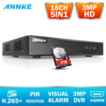 Annke 16ch 3mp 5in1 hd tvi cvi ahd ip segurança dvr gravador h.265 + gravador de vídeo digital detecção de movimento = hik DS-7216HQHI-F1/n