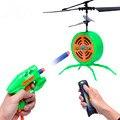 Helicóptero infrarrojo inducción de control remoto flying saucer drone toys para niños jugando a la pelota