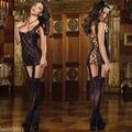 Mulheres Sexy Erotic Lace Lingerie Vestido Pijamas Roupa Interior da G-corda