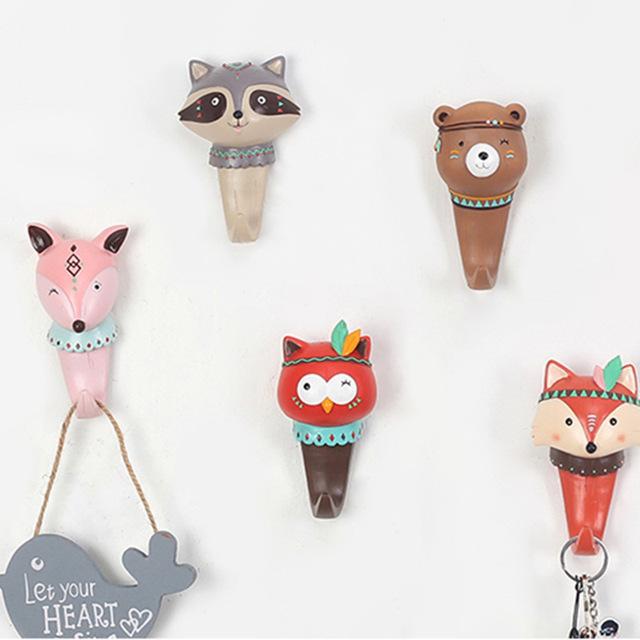 Forest Animal Coat Hook for Kids Room