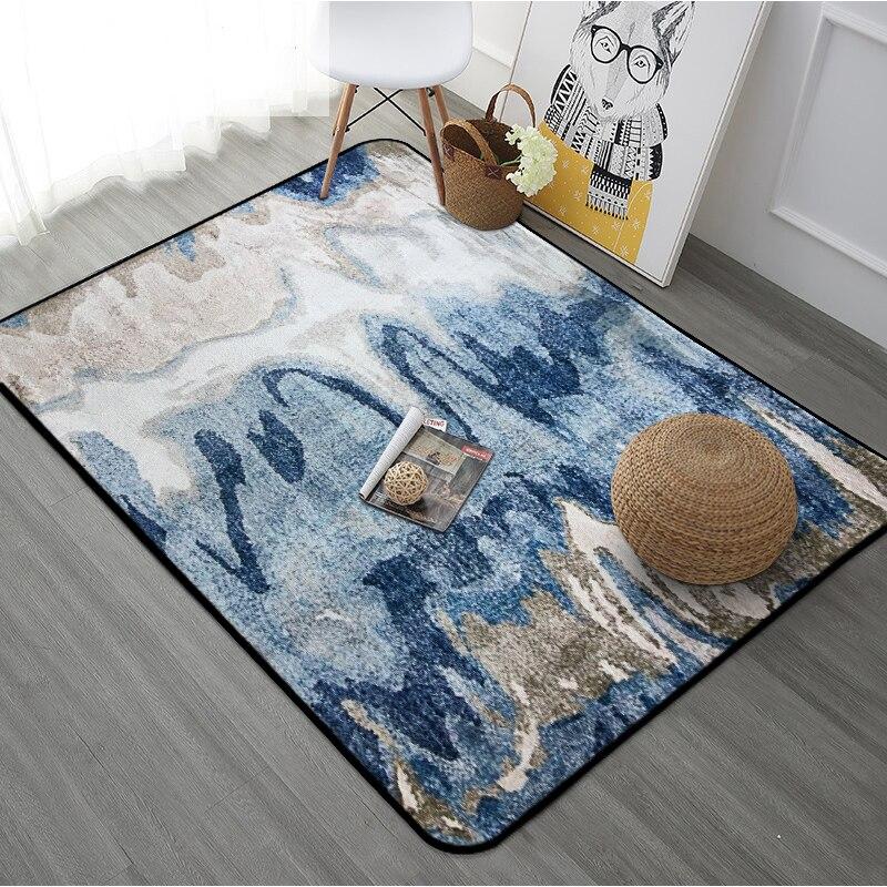 Nouvelle grande taille tapis de sol tapis peinture abstraite imprimé chambre tapete ménage Rectangle tapis pour salon tapis alfombra