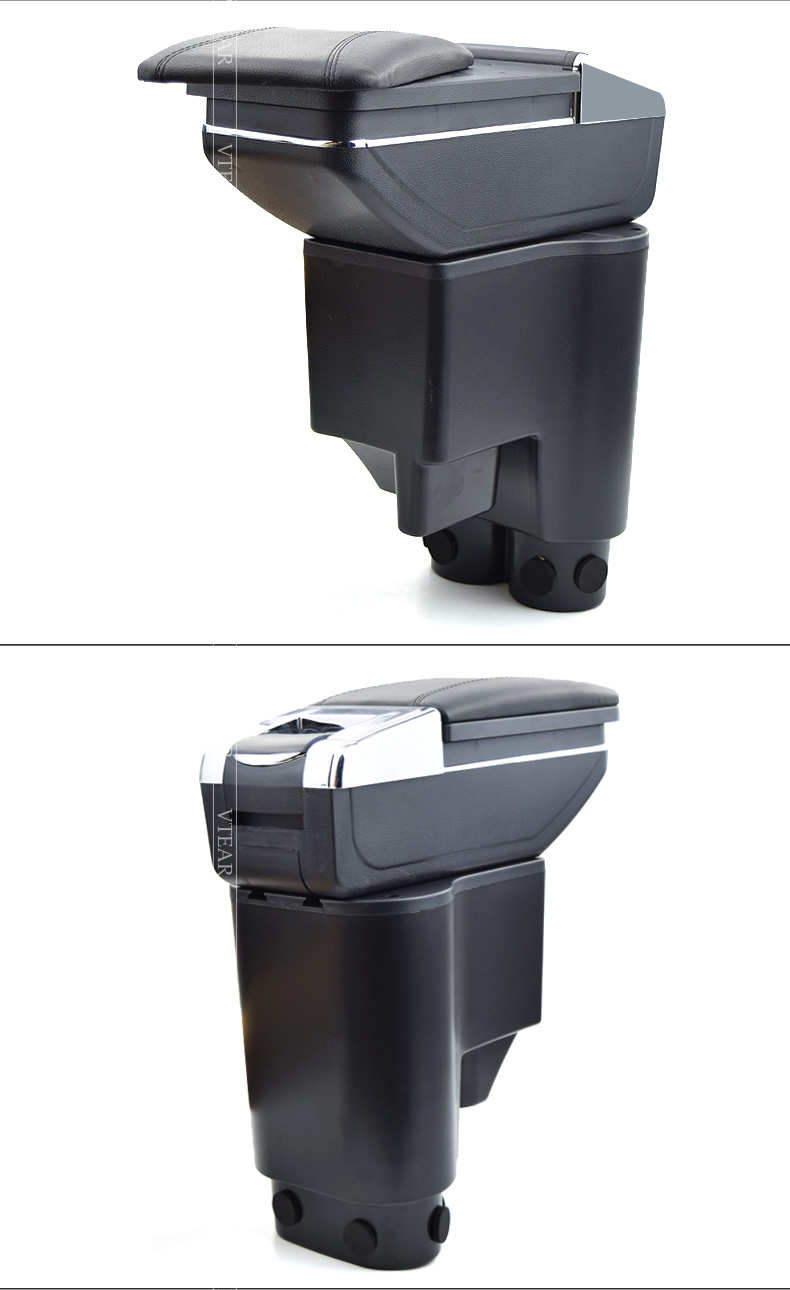 Vtear For perodua myvi armrest box central Store content box products  interior Armrest Storage car-styling accessories parts