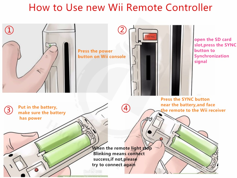 Wii controller connect