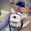 Новый 2016 Мода Diomonds Женщины Рюкзак Высокое Качество PU Кожи Заклепки Женщин Сумки На Ремне 4 Цвета Симпатичный Рюкзак