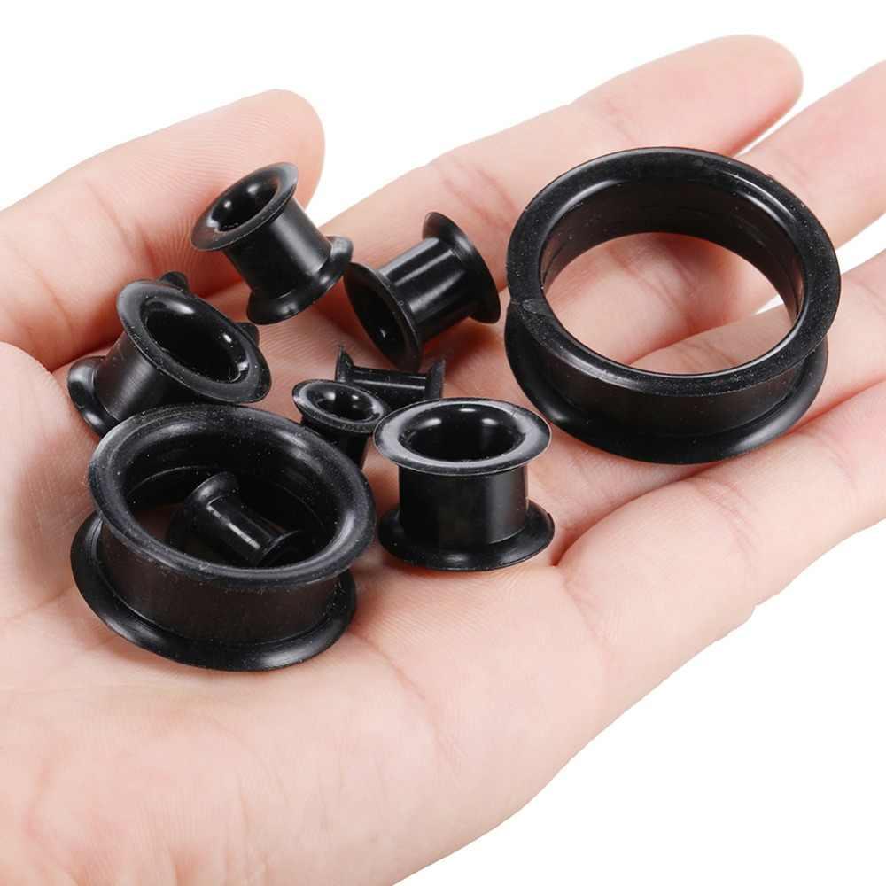 2 ชิ้น/ล็อตสีดำ Hollow หูเนื้ออุโมงค์ปลั๊ก Expander เจาะขนาดผสม Hollow หูฟัง Stretcher Body แฟชั่นเครื่องประดับ