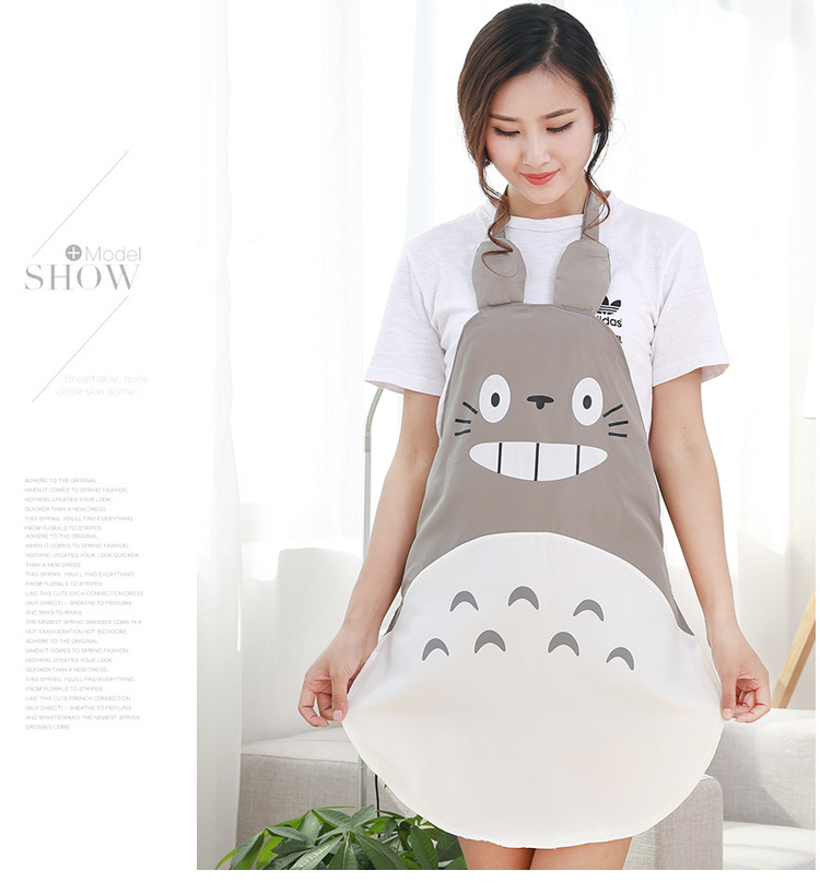 1pcs  Apron;Nursing Sleeves /lot  Antifouling Cute Totoro  Waterproof Cloth Fashion  Favorite For Mom Cooking Oil-proof
