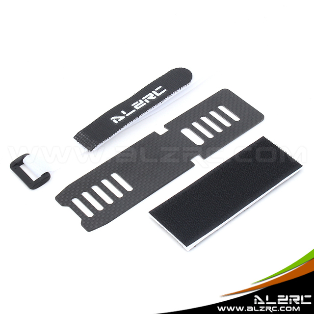 (2Pieces/Lot)ALZRC Devil 380 FAST RC Helicopter Parts Carbon Battery Mount 1.2mm Fit  Goblin SAB 380