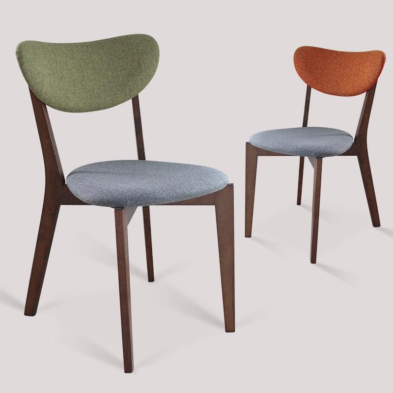 Nordic eenvoudige houten stoelen doek koffie stoel lounge for Ikea houten stoel