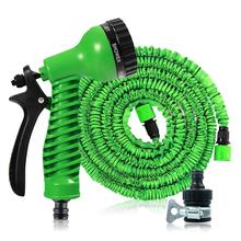 7.5M-30M Garden Hose Expandable Magic Flexible Water EU Plastic Hoses Pipe With Spray Gun To Watering Car Wash