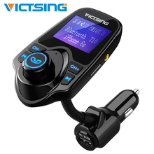 Bluetooth FM Transmitter USB Car Charger Wireless Car Kit Radio Transmitter Adapter with 3.5mm Audio Port 1.44Inch Display lcd display wireless radio fm transmitter car kit with car charger for iphone5 6