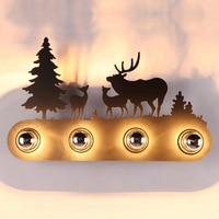 동물 스타일의 벽 램프 패션 창조적 인 산업 말 E27 벽 빛 바 침실 공부