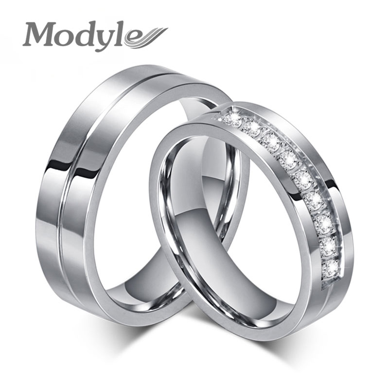 Modyle 2017 new cz wedding rings for women men silver for Cz wedding rings for women