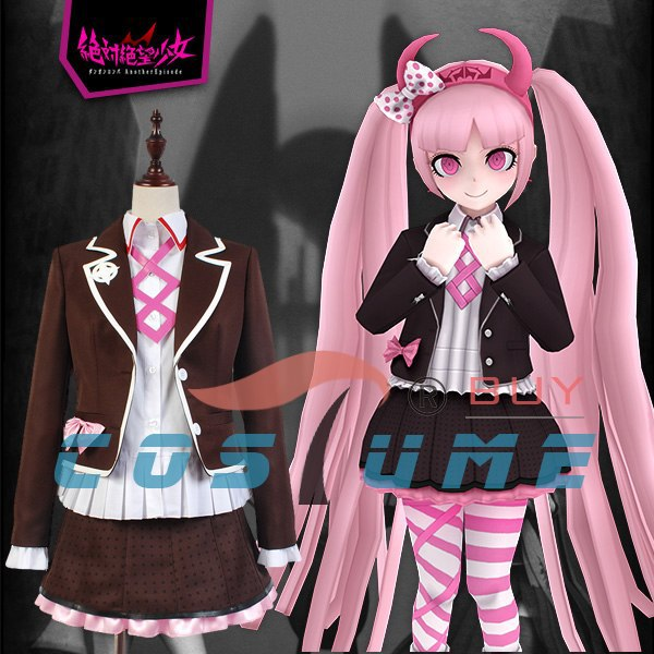 Zettai Zetsubo Shojo: Danganronpa Another Episode Kotoko Utsugi Cosplay Costumes Uniform Halloween For Women Custom Made