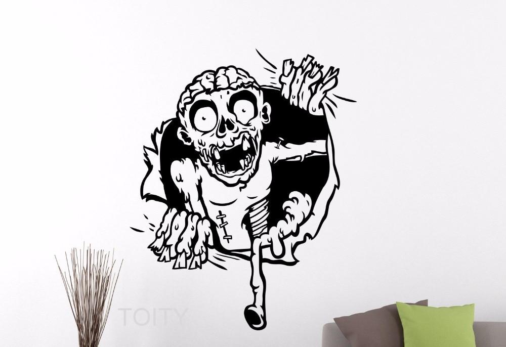 Zombie Wall Decal Dark Horror Vinyl Sticker Home Interior