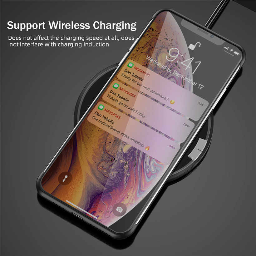 USLION Ultra Mince Mat Sans Cadre Téléphone étui pour iphone 11 XS Max XR X Couleur Bonbon étui pour iphone 6 6S 7 8 Plus 11 Pro Max Dur PC Couverture Arrière