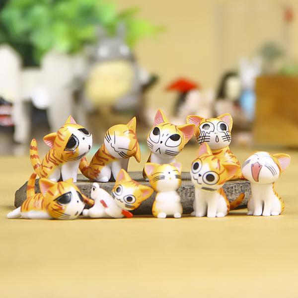 9 pcs/set Chi's Sweet Home Cute Cat Kitty Figures Toy Cartoon Anime Mini Cat Emoji Action Figures Decoration Totoro Toys 6pcs set kawaii hello kitty action figures kids toys kt cat toys gift 4 3cm