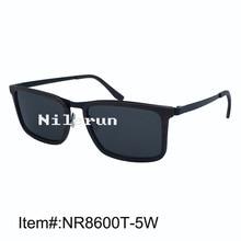 Super light and thin metal rim embeded in ebony wood frame sunglasses with matt dark grey metal temples and metal nose bridge