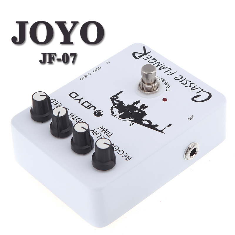 Joyo JF 07 Classic Flanger Guitar Effect Pedal with True Bypass Design