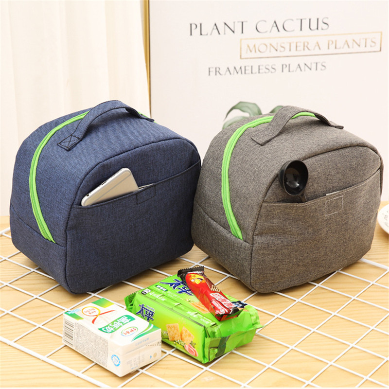 Picnic Bag For Lunch Portable Insulated Canvas Picnic Bag Outdoor Cooler Box Outdoor Travel Picnic Bag