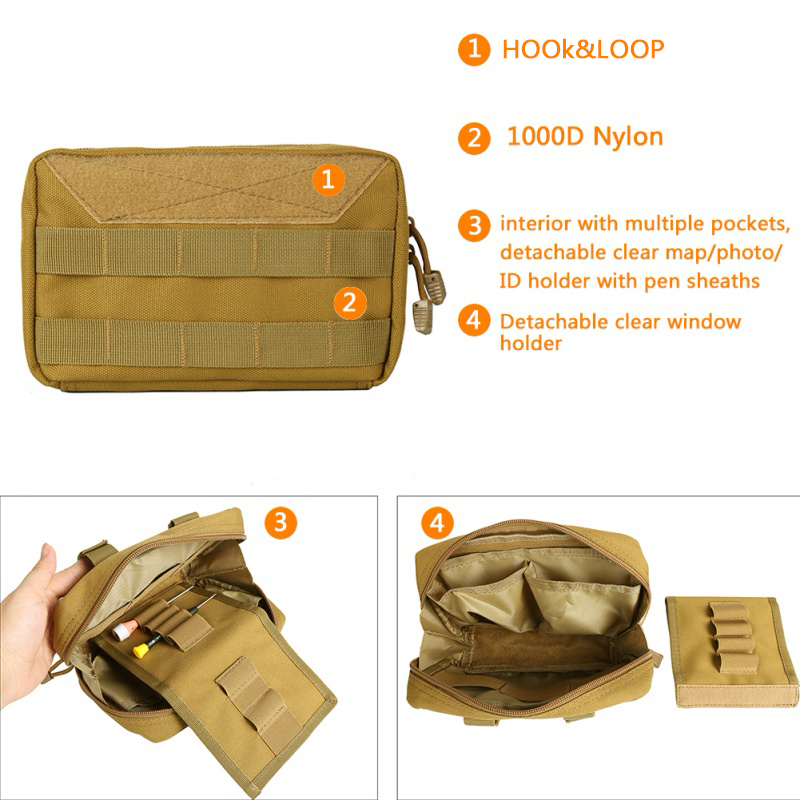 2018 New Military MOLLE Admin Pouch Tactical Multi Medical Kit Bag Utility Tool Belt EDC Pouch For Camping Hiking Hunting cqc tactical molle system medical pouch utility edc tool molle pouch waist pack phone pouch hunting 1000d molle bag
