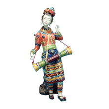 Chinese Beauty Statue Collectibles Antique Imitation Sculpture Arts Morvel Porcelain Statues Female Figurine for Christmas Gifts