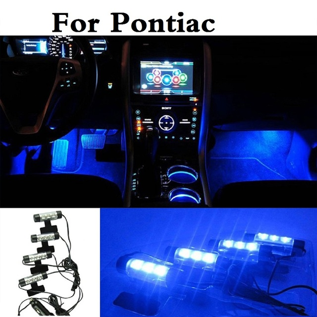 New Car Led Interior Atmosphere Lights Decoration Blue Lamp Styling For Pontiac Aztec Bonneville G4 G5 G6 G8 Grand Am