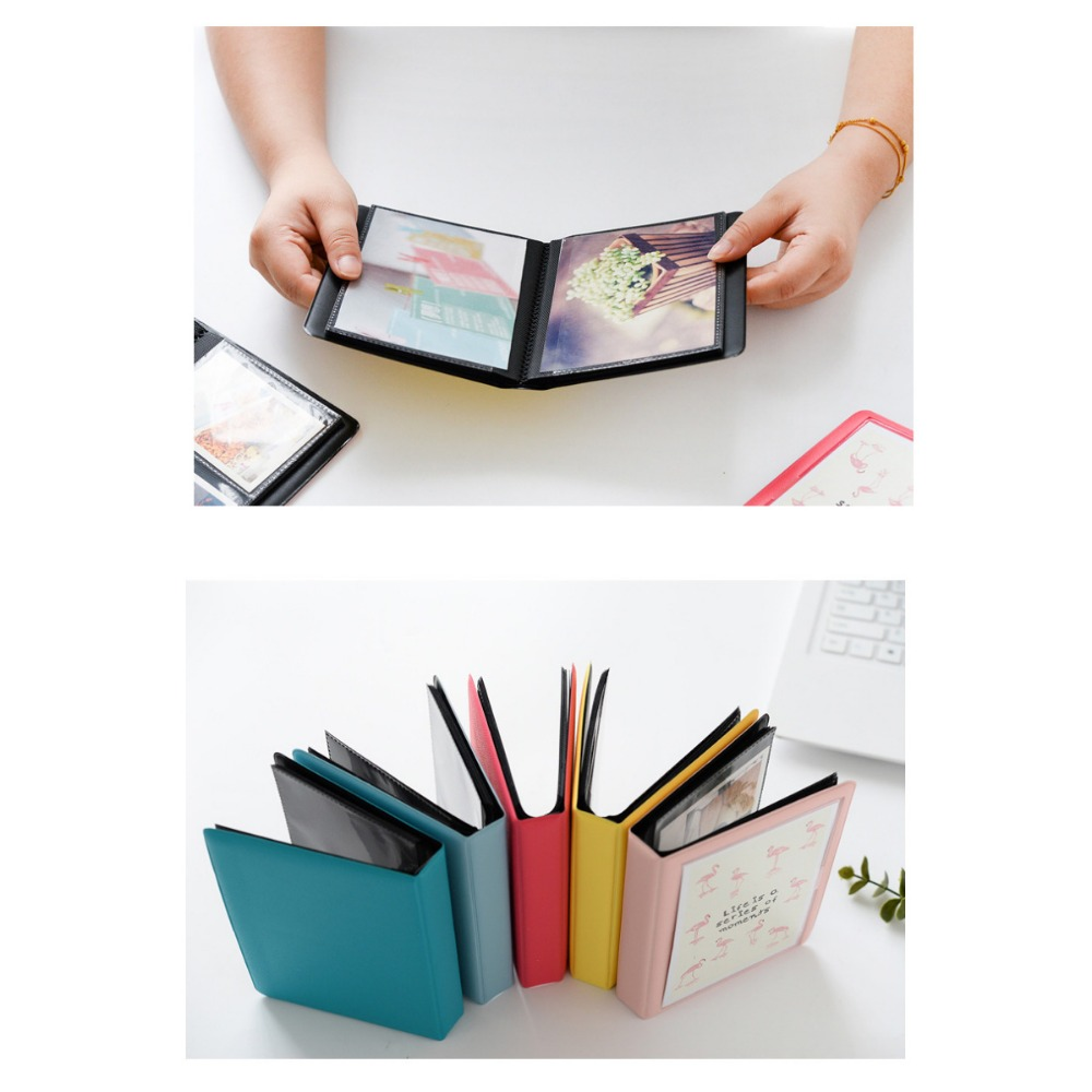 Image 5 - 32 Pockets Colorful Flamingo Mini Photo Album Picture Case Storage for 5 Inch Photo / Instax WIDE Film-in Camera/Video Bags from Consumer Electronics