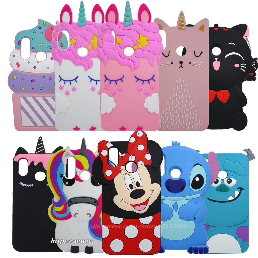 3D Cartoon Minnie Soft Silicone Phone Case For Huawei P20 Lite P 20 Lite Case For Huawei P20 Lite Case P 20 Lite Cover