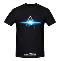 RTTMALL Large Size XXL Men T Shirts Cotton Star Trek Galaxy Cool Designed Top Camisa De