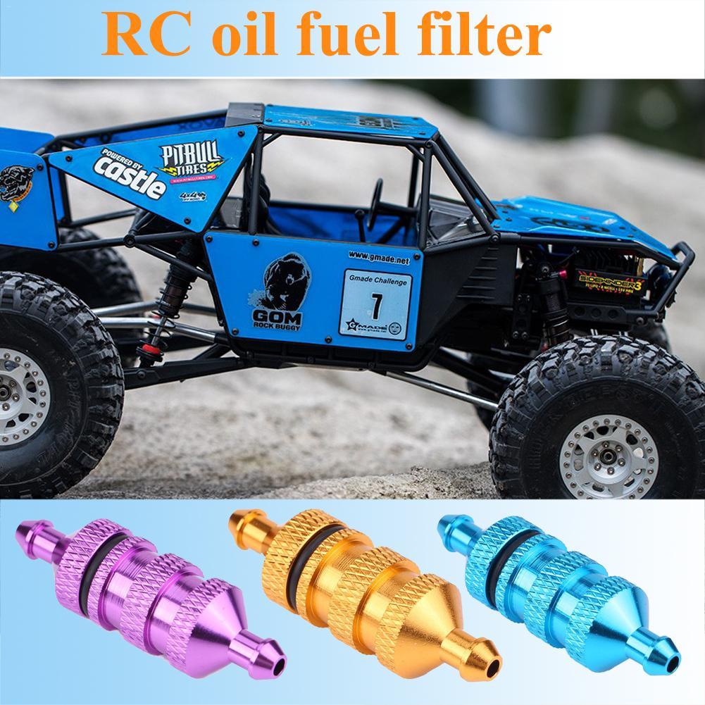 Purple//Blue//Gold 1//10 And 1//8 Scale RC Aluminium Nitro Fuel Filter