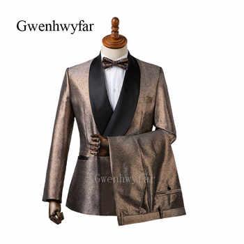 Gwenhwyfar Shiny Orange Sliver Grey Mens Wedding Suits Tuxedo Slim Fit Man Suit Blazer Pant Masculino Dress Suit For Men 2 Piece - DISCOUNT ITEM  44 OFF Men\'s Clothing