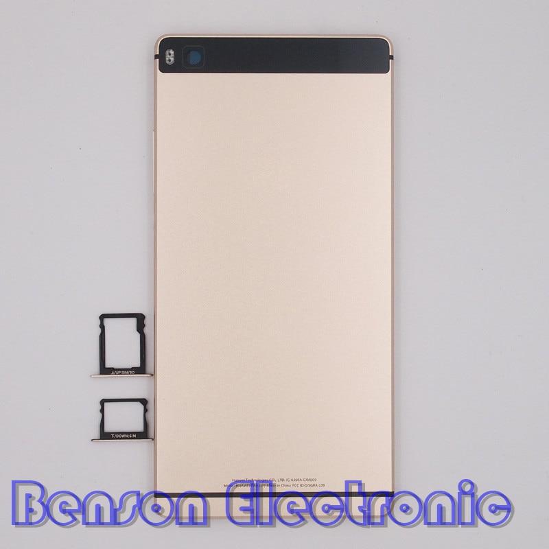 bilder für BaanSam Neue Metal Batterierückseitige Abdeckung SIM Karten-behälter Für Huawei Ascend P8 5,2 Zoll Standard Version Gehäuse Mit tasten