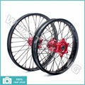 1Set Wheel rim Hub Spoke Motorcycle Wheels Front 21x1.6 Rear 19x2.15 For HONDA CRF 250 450 R 2002 2004 2005 2006 2008 Red