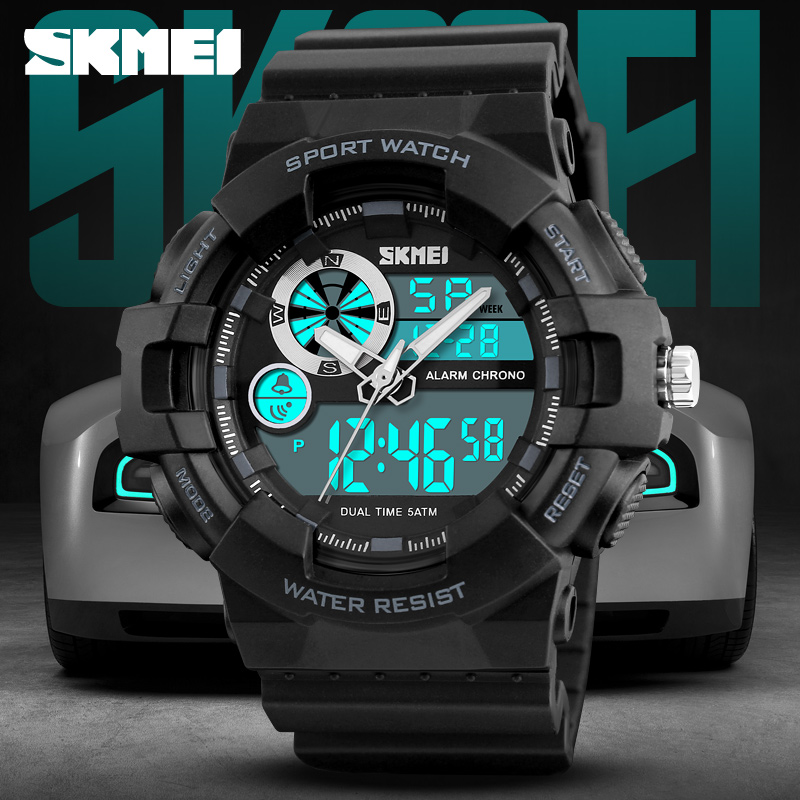 Top Luxury Brand SKMEI Men Sports Watches 50M Waterproof Clock Man Quartz Watch Dual Time Fashion Wrist watch Relogio Masculino