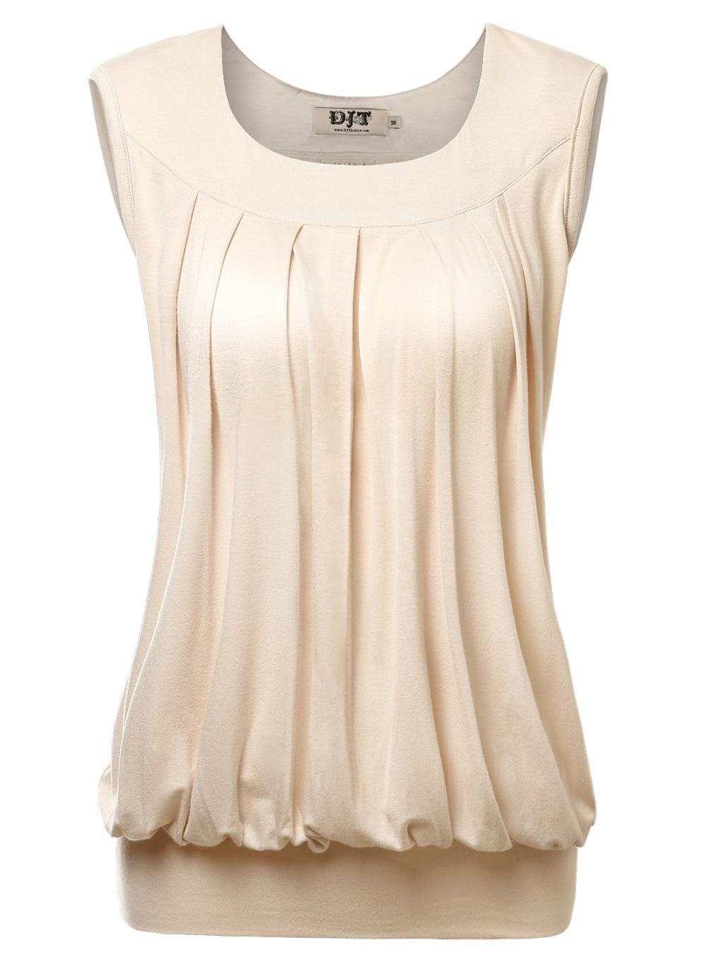 summer super soft women loose tops pleated u neck ruched. Black Bedroom Furniture Sets. Home Design Ideas