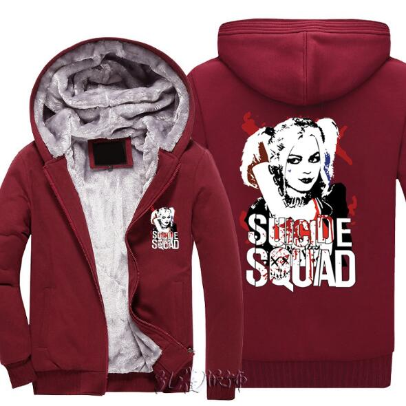 X Task Force Hooded Jacket Halley Quinn Top Suicide Squad Hoodie Clown Ugly Clown Hoodie