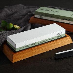 Image 5 - HEZHEN kuchnia ostrzałka kamień szlifierski diamentowa powierzchnia ostrzenia osełka nóż młynek do kuchni narzędzie z prowadnica kątowa
