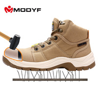 Modyf Men S DESERT Outdoor Boots Steel Toe Cap Crashproof All Canvas Shoes Breathable Lining Comfortable