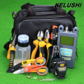 KELUSHI 24 in 1 FTTH Fiber Optic  Tool Kit with FC-6S Fiber Cleaver and Optical Power Meter 10mW Visual Fault Locator