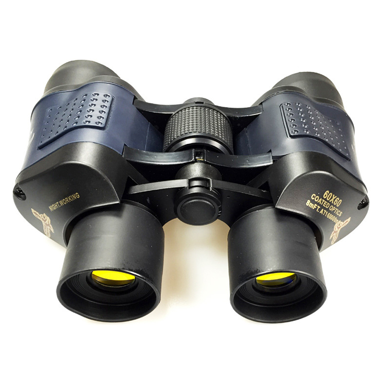 Top 60x60 Binoculars High Power HD Binoculo Telescope Red Film Teleskop Reticle Optic Hd Vision Professional Monoculo Hunting objective lens d154 f750 double separation single layer blue film telescope astronomic professional teleskop mirror binoculars