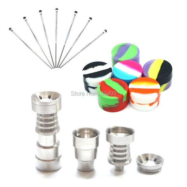 Titanium titanium 14 de uñas 4 en 1 clavo de alta calidad/18mm herramienta dabber cera lenguado shiping libre