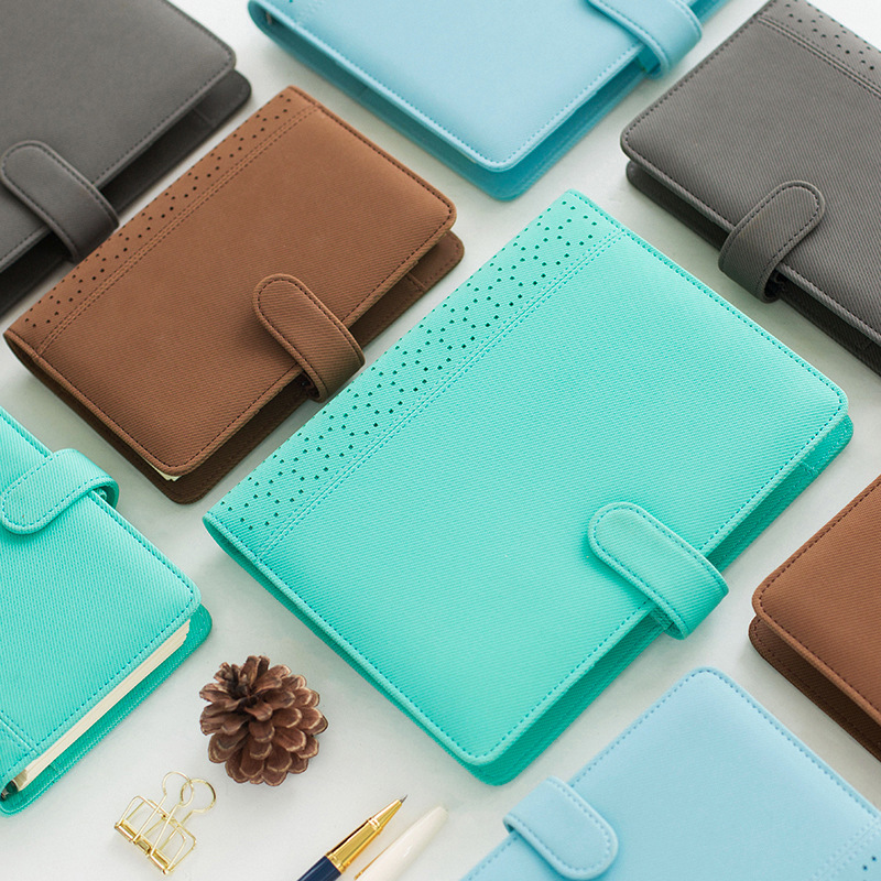 K&KBOOK 2018 New Macaron Hollow Leather Notebook Dairy Spiral Notebook A5 A6 Personal Daily Weekly Planner Agenda Organizer